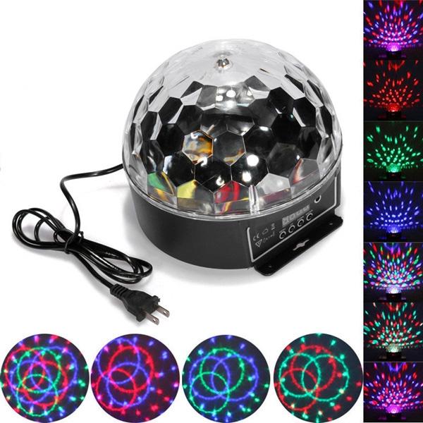 Magic Ball - Luces para Fiesta Multicolor Disco AudioRitmico  + Luz Led multicolor + Bola Psicodélica