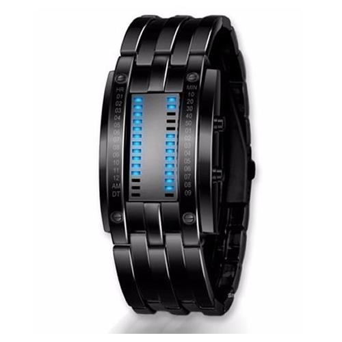 10fcfa7aeda2 Reloj LED BINARIO - Reloj Pulsera Digital Led de Acero - DigitalCrazy