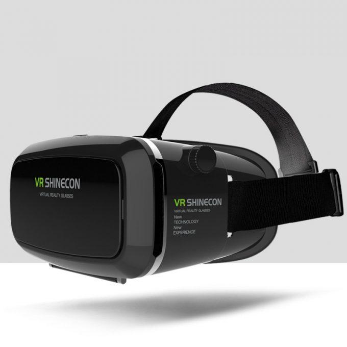 VR SHINECON BOX gafas lentes de Realidad Virtual 3D para Smartphone