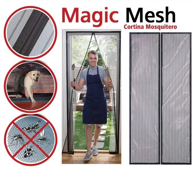 Magic Mesh - Cortina Magica Magic Mesh Anti Moscos mosquitero Anti Insectos Magnetico