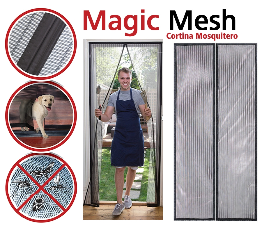 Magic Mesh Cortina Magica Magic Mesh Anti Moscos