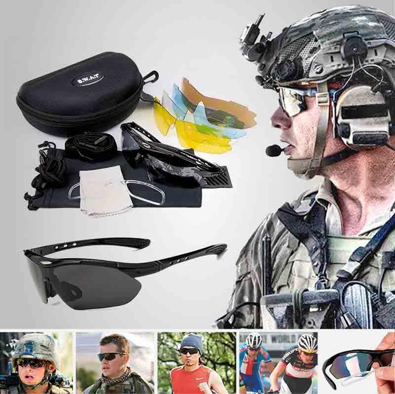 Lentes Táctico Protección UV 400 Pack de 5 lentes con estuche + ...