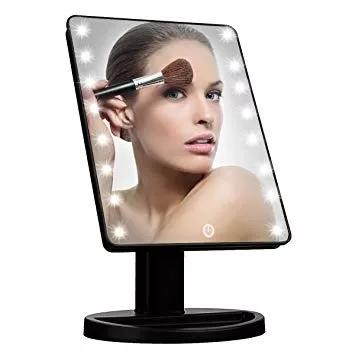 Espejo de maquillaje para tocador con pantalla 22 luces - Tocador con espejo y luces ...